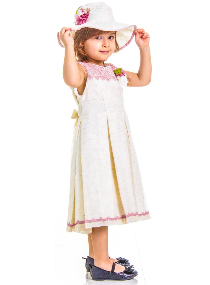 Girl hand-embroidered light luxury princess wind hooded dress set of 2